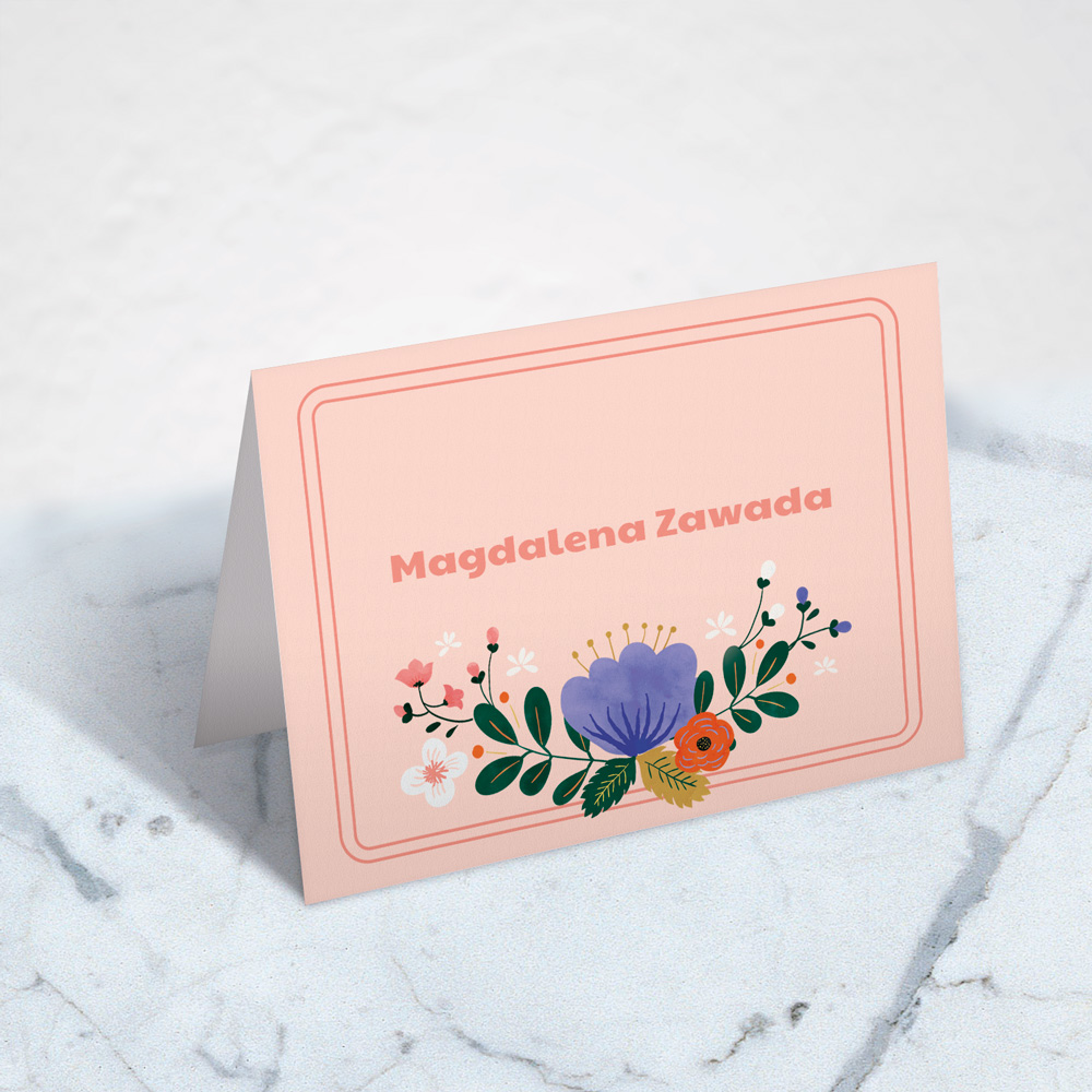 salmon pink guest tag